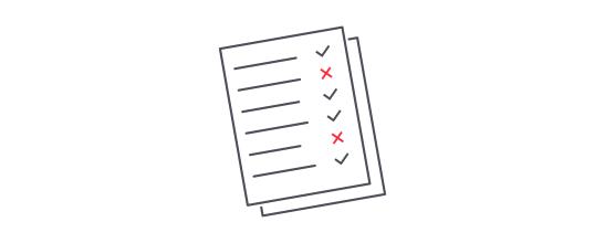 Dieses Bild zeigt eine vereinfachte Checkliste