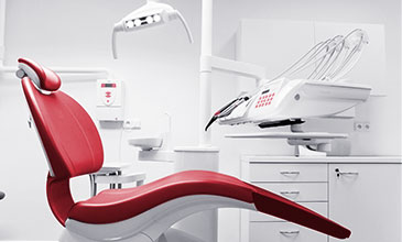 This picture shows a dentist's chair