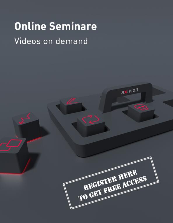 Hier bewerben wir unsere Axivion Online Seminare on demand, für die Sie sich zum Download registrieren können.