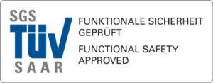 SGS TÜV Saar Logo zur Zertifizierung für Funktionale Sicherheit